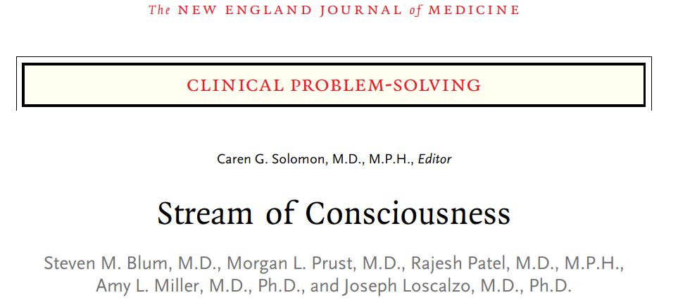 NEJM CPSを読み解く1-1 Stream of Consciousness